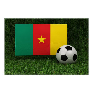Cameroon Soccer Poster