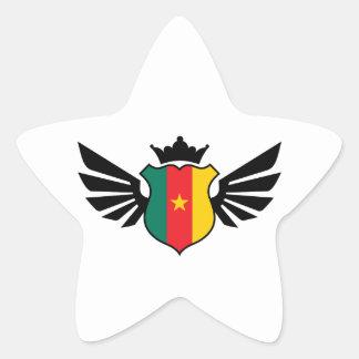 Cameroon soccer star sticker