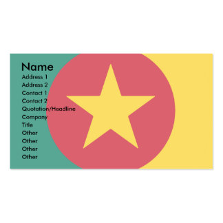Cameroon Square Flag Design Double-Sided Standard Business Cards (Pack Of 100)