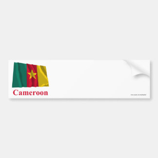 Cameroon Waving Flag with Name Bumper Sticker