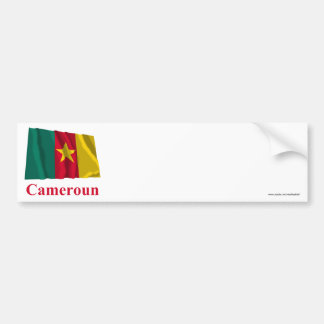Cameroon Waving Flag with Name in French Bumper Sticker