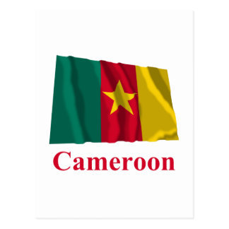 Cameroon Waving Flag with Name Postcard