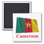 Cameroon Waving Flag with Name Refrigerator Magnet