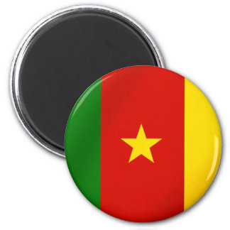 Cameroonian flag of the Cameroon gifts 2 Inch Round Magnet