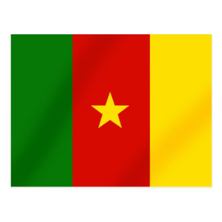 Cameroonian flag of the Cameroon gifts Postcard