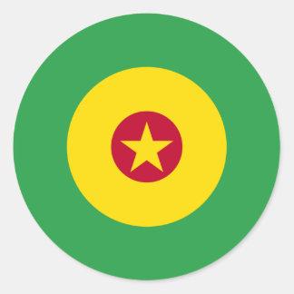 Cameroonian Mod Round Sticker