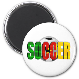 Cameroonian soccer ball flag logo gifts 2 inch round magnet