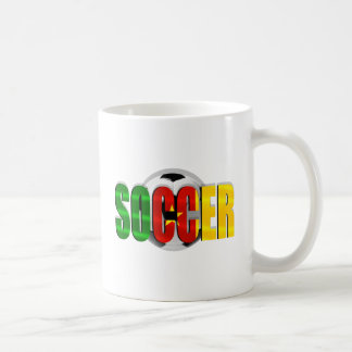Cameroonian soccer ball flag logo gifts coffee mug