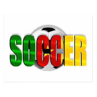 Cameroonian soccer ball flag logo gifts postcard