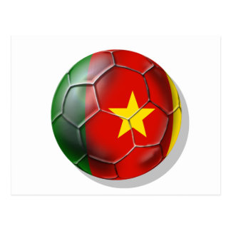 Cameroonian soccer ball flag of Cameroon Postcard