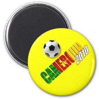 Cameroun 2010 - Camerounaise football 2 Inch Round Magnet