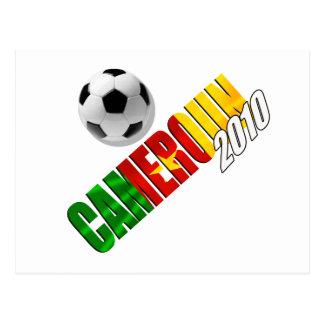 Cameroun 2010 - Camerounaise football Postcard