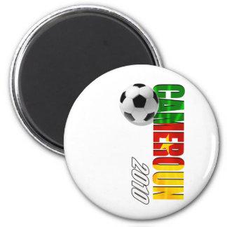 Cameroun 2010 flag logo vertical artwork gifts 2 inch round magnet