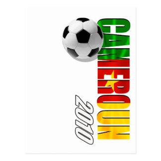 Cameroun 2010 flag logo vertical artwork gifts postcard