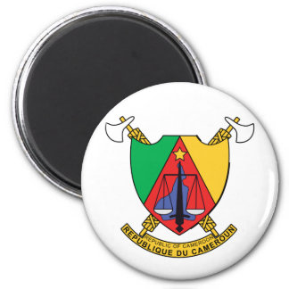 Cameroun Cameroon Coat of Arms 2 Inch Round Magnet