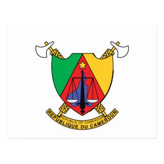 Cameroun Cameroon Coat of Arms Postcard