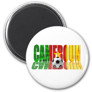 Cameroun flag logo gifts 2 inch round magnet