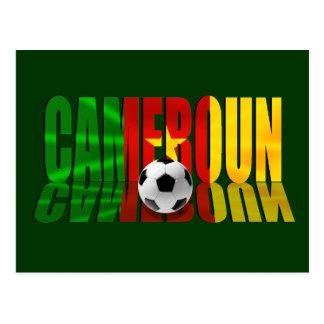 Cameroun flag logo gifts postcard