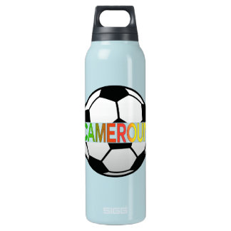 Cameroun Les  Lions Indomptables Ball 16 Oz Insulated SIGG Thermos Water Bottle