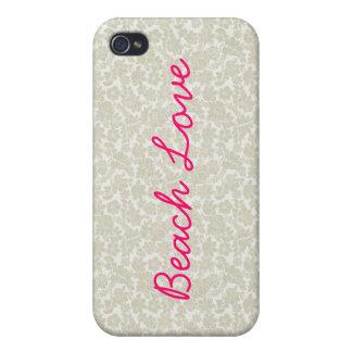 Cami: Beach Love Damask iPhone 4 Case