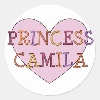 Camila Classic Round Sticker