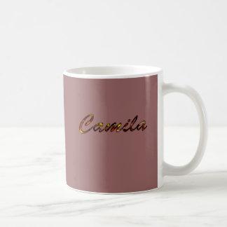 Camila customized tea mug in brown