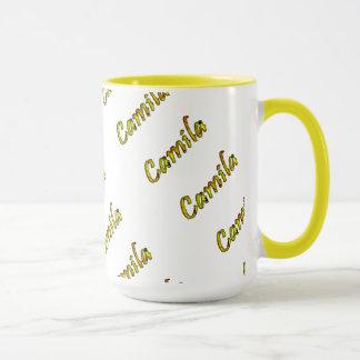 Camila Customized Yellow Style 15 oz Ringer Mug