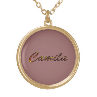 Camila Golden Necklace in Brown