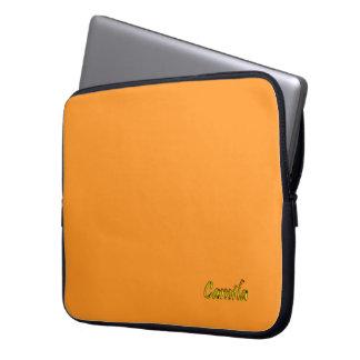 Camila Orange Laptop Bag Laptop Sleeve