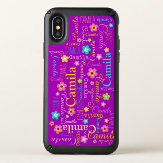 Camila personalized purple text name case