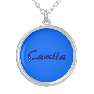Camila Silvery Necklace in Blue