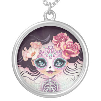 Camila Sugar Skull Day of the Dead Necklace