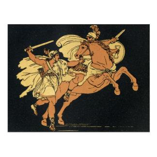 Camila y Aunus una escena del Aeneid. de Virgil Postal