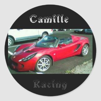 Camille amille racing classic round sticker