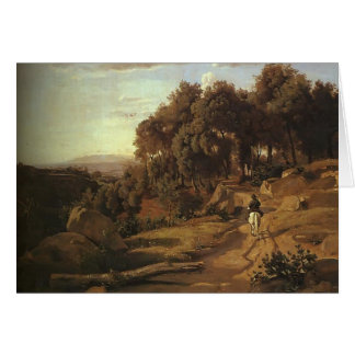 Camille Corot- A View near Colterra Greeting Card