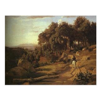 Camille Corot- A View near Colterra Postcard