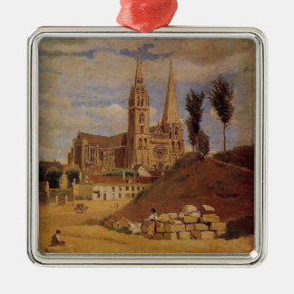 Camille Corot- Chartres Cathedral Metal Ornament