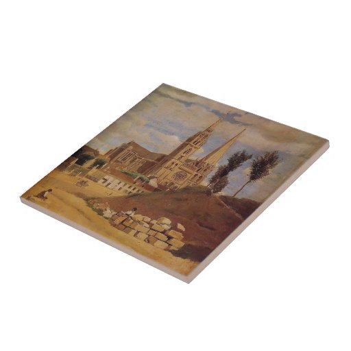 Camille Corot- Chartres Cathedral Tiles