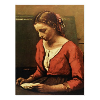 Camille Corot- Girl Reading Post Card