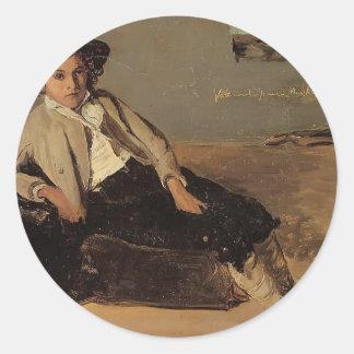 Camille Corot- Italian Peasant Boy Sticker