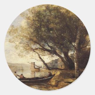 Camille Corot- Smyrne Bornabat Round Stickers