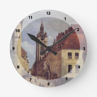 Camille Corot- The Belfry of Douai Round Clock