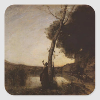 Camille Corot- The Evening Star Stickers