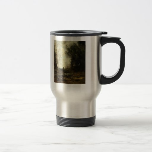 Camille Corot- The Valley 15 Oz Stainless Steel Travel Mug