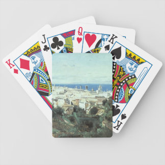 Camille Corot- View of Genoa Poker Deck