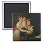 Camille Desmoulins  his wife Lucile  and their 2 Inch Square Magnet