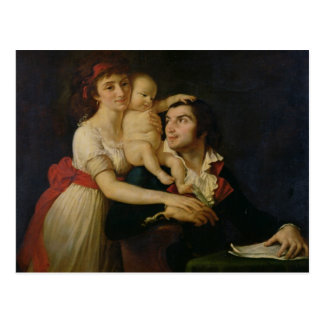Camille Desmoulins  his wife Lucile  and their Post Card