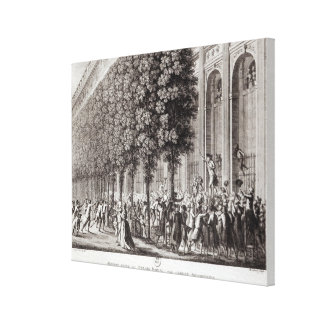 Camille Desmoulins  Speaking at the Palais Canvas Print