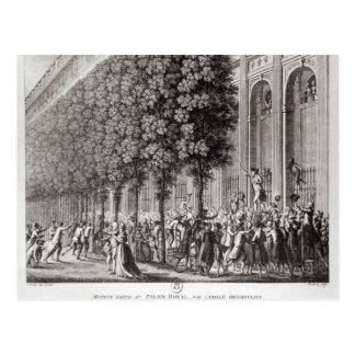 Camille Desmoulins  Speaking at the Palais Postcard