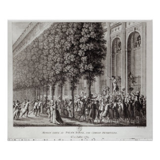 Camille Desmoulins  Speaking at the Palais Poster